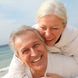 Senior couple at the beach — Stock Photo #6700433