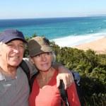 Senior couple on hiking day — Stock Photo