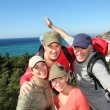 Portrait of happy group of hikers — Stock Photo #6700781