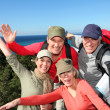 Portrait of happy group of hikers — Stock Photo