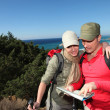 Couple on a hiking day — Stock Photo #6700785