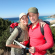 Couple on a hiking day — Stock Photo #6700790
