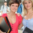 Girlfriends at university — Stock Photo #6701414