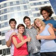 Group of friends at college campus — Stock Photo #6701448