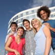 Group of friends at college campus — Stock Photo #6701449
