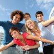 Group of friends at college campus — Stock Photo #6701455