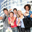 Group of friends at college campus — Stock Photo #6701459