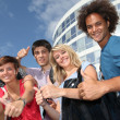 Group of friends at college campus — Foto Stock #6701462