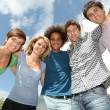 Group of happy students during summer break — Stock Photo #6701694