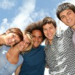 Stock Photo: Group of happy students during summer break