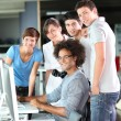 Group of student in business training — Stock Photo