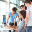 Group of students in computer lab — Stock Photo #6702073