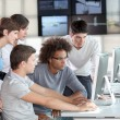 Stock Photo: Group of young in business training