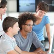Young engineers in business meeting — Stock Photo