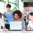 Group of young in business meeting — Stock Photo