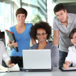 Group of young in business meeting — Foto de Stock