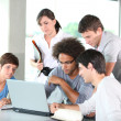 Stock Photo: Group of young in business meeting