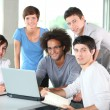 Group of young in business meeting — Stock Photo #6702192