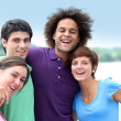 Stock Photo: Group of friends having fun