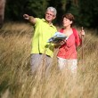Senior couple rambling in countryside — Stock Photo #6703025