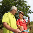 Senior couple rambling in countryside — Stock Photo #6703029