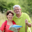 Senior couple rambling in countryside — Stock Photo #6703063
