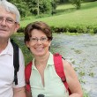 Senior couple rambling in countryside — Stock Photo #6703215