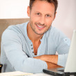 Man working at home — Stock Photo #6703441