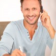 Man working at home — Stock Photo #6703443