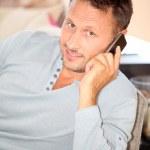 Man with telephone — Stock Photo #6703457