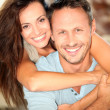 Foto Stock: Happy couple at home