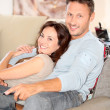 Couple relaxing at home — Stock Photo #6703477