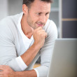 Man with laptop computer — Stock Photo #6703579