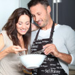 Couple having fun cooking — Stock Photo #6703594