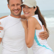 Happy couple in running outfit — Stock Photo #6703790