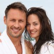 Happy couple in spa treatment — Stock Photo #6703843