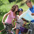 Family on a bicycle ride — Stock Photo #6704196