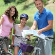 Family on a bicycle ride — Stock Photo #6704197