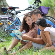 Family on a bicycle ride — Stock Photo #6704199