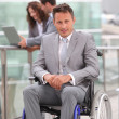 Royalty-Free Stock Photo: Man in wheelchair