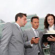 Business in a business meeting — Stock Photo