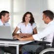 Businessman in wheelchair — Stock Photo #6704850