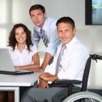 Businessman in wheelchair — Stock Photo #6704854