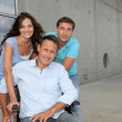 Group of office workers with handicapped person — Stock Photo #6704916