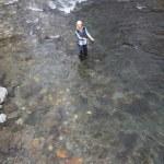 Woman fly-fishing — Stock Photo #6705451
