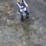 Woman fly-fishing — Stock Photo #6705457