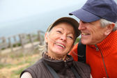 Portrait of senior couple on hiking day — Stock Photo