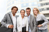 Business partners meeting outside — Stock Photo
