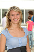 Beautiful blond student — Stock Photo