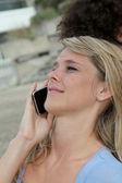 Young with mobile phone — Stock Photo